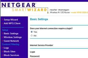 Your router's home page indicates that you're logged in.