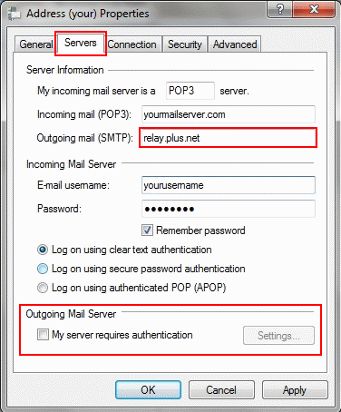 Update the 'Outgoing mail (SMTP)' server and make sure 'My server requires authentication' is unticked.