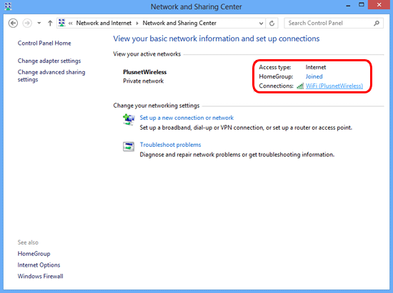 Windows 8 - Manage Network Connection